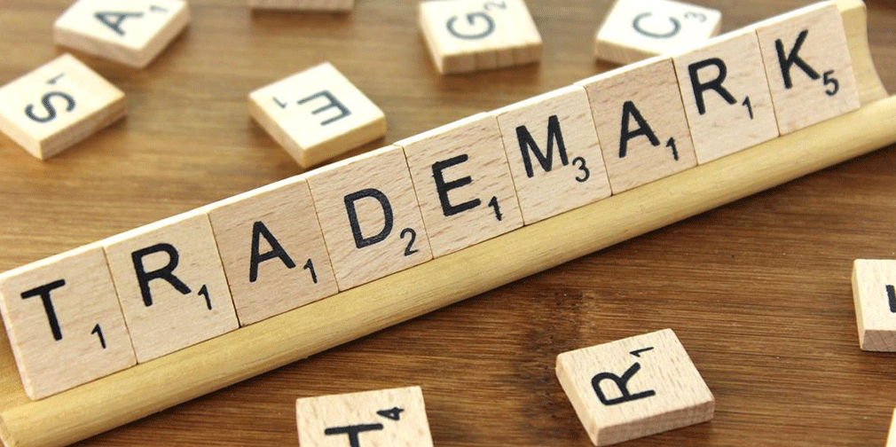 Image That Depicts The Trademark Concept Written In Building Blocks.