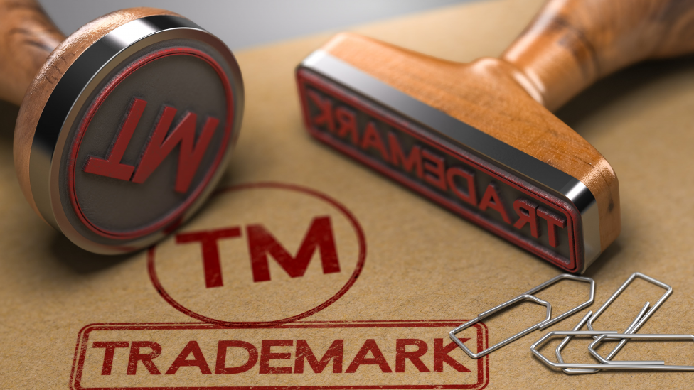 Image That Represents The Trademark Registration With Stamp.